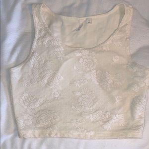 Cute white lace crop top